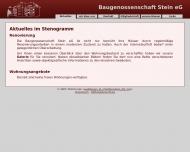 Website Baugenossenschaft Stein eG