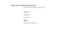 Bild Webseite Bauer Kurz Stockburger & Partner Dipl.-Ing. Architekten München