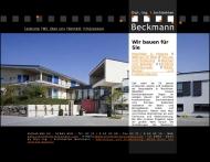 Website Beckmann Holger Dipl.-Ing. Architekt