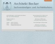 Bild Webseite Becker Ralf Dipl.-Ing. Architekt Berlin