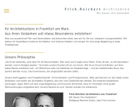 Website Frick , Reichert Architekten