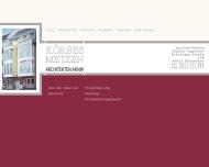 Bild Webseite Körbes + Metzen Düsseldorf