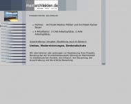Website Rheinarchitekten Markus Möller u. Rainer Bauer Architektur