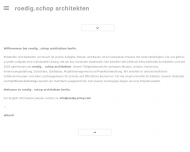 Bild Webseite Schop Ulrich , Roedig Christoph Architekten Berlin